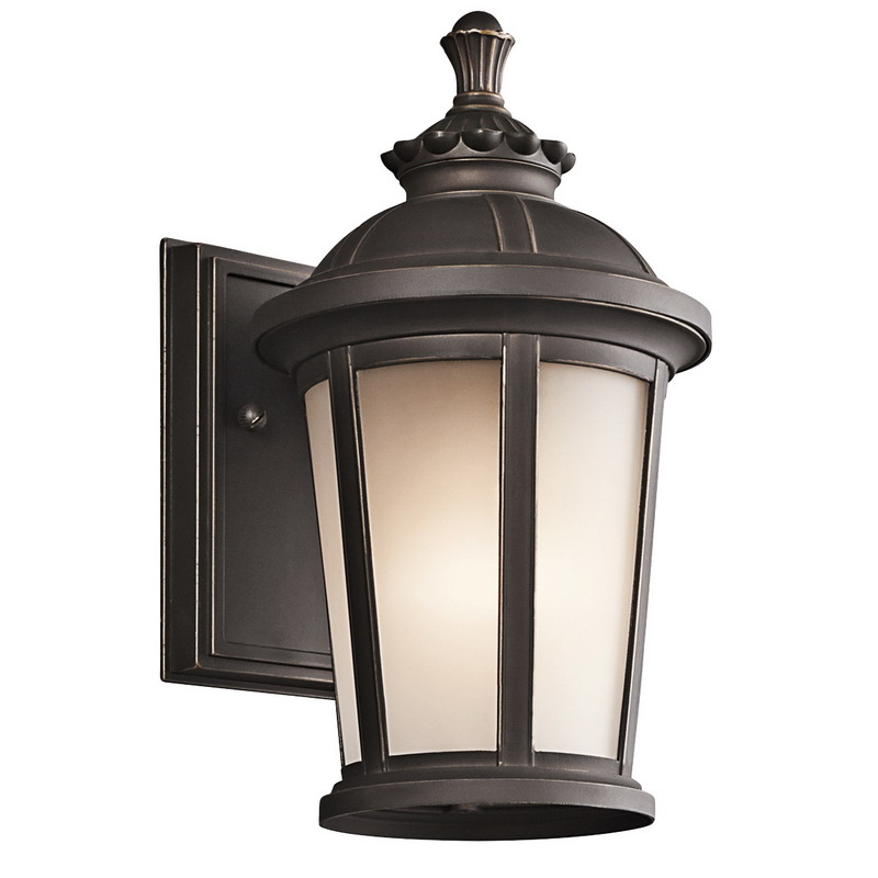 Kichler 49409RZ Ralston Collection 1-Light Incandescent/Hybrid Compact Fluorescent Wall Sconce; 75 Watt, Rubbed Bronze