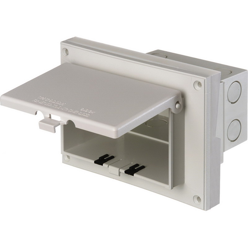 Arlington DBHR131W In Box™ Electrical Box With Weatherproof Cover; UV-Rated Plastic, White