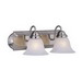 Maxim 8012MRSN Essentials 801x Collection 2-Light Wall Mount Incandescent Bath Vanity; 100 Watt, Satin Nickel