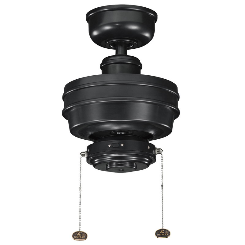 Kichler 320510SBK Crystal Bay™ Climate 320510 Ceiling Fan; 120 Volt, 0.55/0.44/0.22 Amp, 6556/4532/1497 cfm