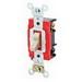 Leviton 1223-7LI AC Quiet 3-Way Lighted Handle Toggle Switch; 277 Volt AC, 20 Amp, Ivory