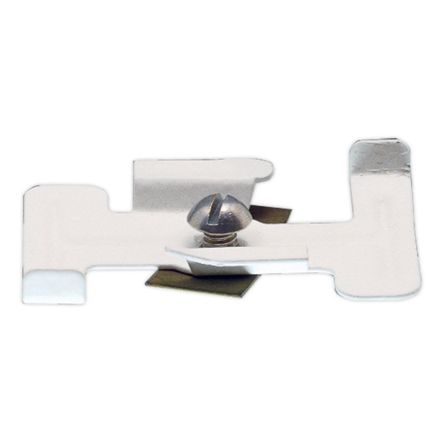 Lightolier 56451WH Surface Track Mounting Clip; Matte White