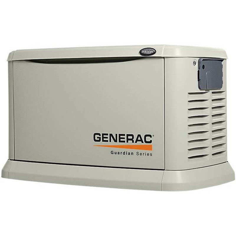 Generac Power Systems 6551 Standby Generator; 22000 Watt LP/19500 Watt NG, 120/240 Volt