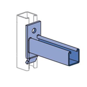 Unistrut P2514SS Bracket; 2 Inch Width x 3-3/4 Inch Height, Steel, Stainless Steel