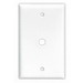 Cooper Wiring 2159W-BOX 1-Gang Telephone/Coaxial Wallplate; Screw Mount, Thermoset, White