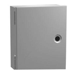 Hammond N1J886 Enclosure; 16 Gauge Steel, ANSI 61 Gray, Wall Mount, Hinged Cover
