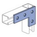 Unistrut P1380A-HG Flat Plate Fitting; 5-3/8 Inch Length x 3-1/2 Inch Height, Steel, Hot-Dip Galvanized