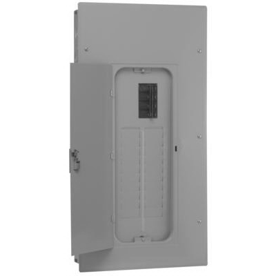 GE Distribution TSM1612CFCU Meter Socket Load Center; 125 Amp, 120/240 Volt AC, 1-Phase, Semi-Flush Mount