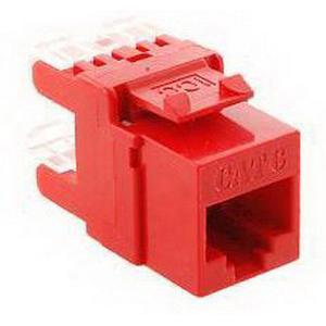 ICC IC1078F6RD Keystone Jack; Red