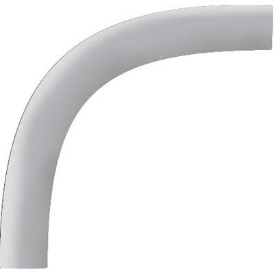 Cantex 5121087 90 Degree Elbow 6 Inch  Plain End  60 Inch Radius  PVC  Gray  SCH 80