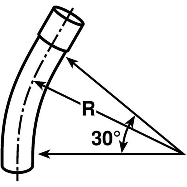 Carlon UA6DJ 30 Degree Non-Metallic Elbow; 2 Inch, Plain End, Gray