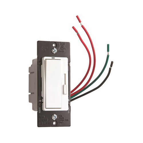 Pass & Seymour HDH-163PTC Harmony&trade Fan Speed Control 120 Volt AC  1.6 Amp  1-Pole  On/Off  Ivory/White/Light Almond