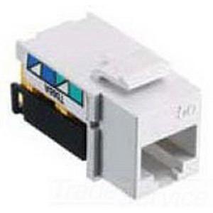 Hubbell Wiring NSJ6I25 Net Select Jack® Category 6 Modular Keystone Jacks; Phosphor Bronze, Ivory