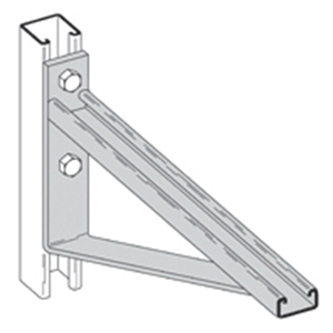 Cooper B-Line B494-12-ZN Braced Single Bracket; Aluminum, Electro-Plated Zinc, (2) 9/16 Inch Hole Mounting