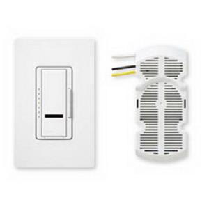Lutron MIR-FQ4FM-WH Maestro IR® Digital Fan Control; 120 Volt AC, 4 Amp, Single Pole, Tap Switch, White