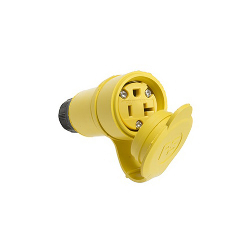 Pass & Seymour 15W-33 Watertight Connector; Rubber, Yellow