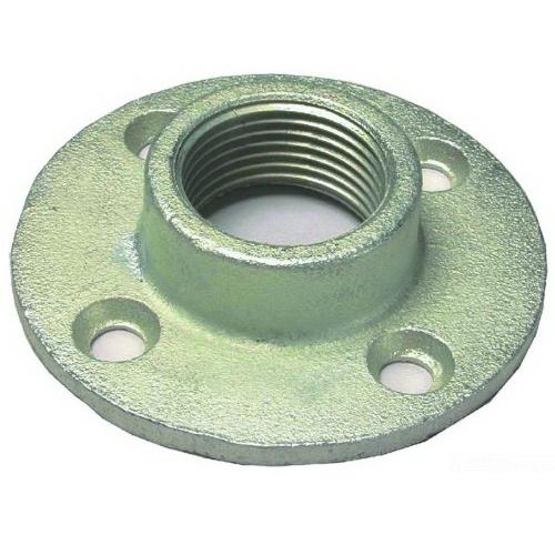 L.H. Dottie FF200 Floor Flange; 2 Inch, Malleable Iron, Zinc-Plated