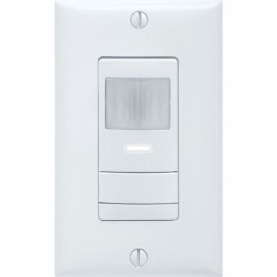Lithonia Lighting / Acuity WSX-PDT-IV Sensor Switch® Dual Technology Passive Infrared and Microphonics Wall Switch Decorator Sensor; 120/277 Volt AC, 20 ft (Small Motion), 36 ft (Large Motion), Auto ON (Default) Or Vacancy, Ivory