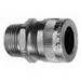Cooper Crouse-Hinds CGB196-SA CGB Series Flexible Cord Connector; 1/2 Inch NPT, Straight Male, Aluminum