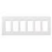 Lutron CW-6-WH Claro® Designer Products 6-Gang Screwless Wallplate; Flush/Wall Mount, Plastic, White