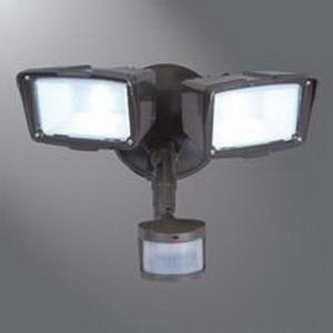 Cooper Lighting MST18920LW LED Security Flood Light; 150 Watt, 120 Volt, 1980 Lumens, 35000 Hour, White
