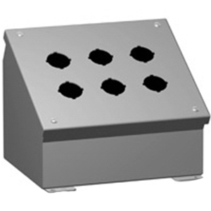 Hammond 1490G10 Pushbutton Enclosure; 13 Inch Width, Mild Steel, Phosphatized Gray Powder-Coated