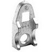 Bridgeport 944-AL Clamp Back; 1-1/4 Inch, Aluminum, Plain