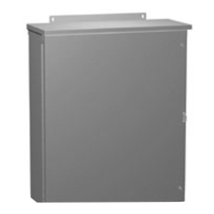Hammond C3R30308HCR Hinge Cover Enclosure; 14/16 Gauge Galvanized Steel, ANSI 61 Gray, Wall Mount, Hinged Cover