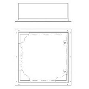 Cooper B-Line 12126-FM Premier™ Series Panel Enclosure; 16 Gauge Steel, ANSI 61 Gray, Flush, Wall Mount, Slotted Quarterturn Latch Cover
