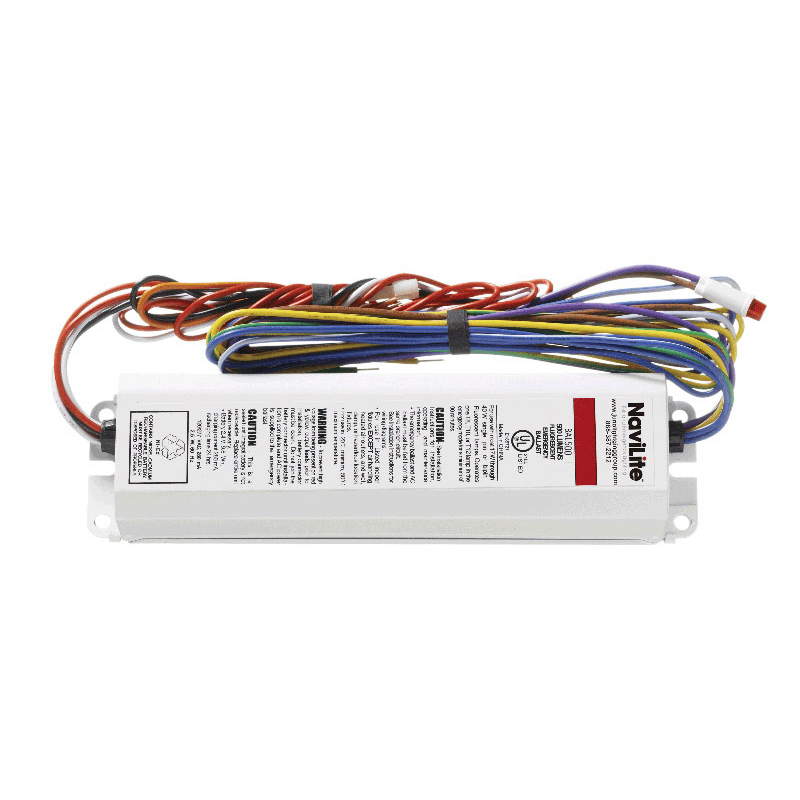 Juno Lighting NEB700 NaviLite® Fluorescent Emergency Ballast; 120/277 Volt AC, 2.4 - 2.5 Watt, 12-Lamp, Rapid, Instant Start