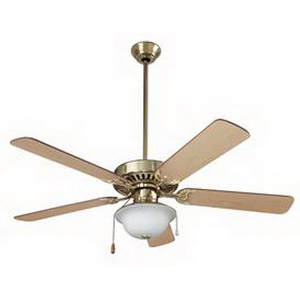 Broan Nu-Tone CFS52PB Ceiling Fan 52 Inch  MDF  Polished Brass