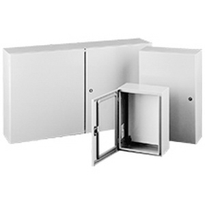 Hoffman Pentair CSD24206LG Concept™ Enclosure; 18 Gauge Steel, RAL 7035 Light Gray, Flush, Wall Mount, Hidden Hinge Cover