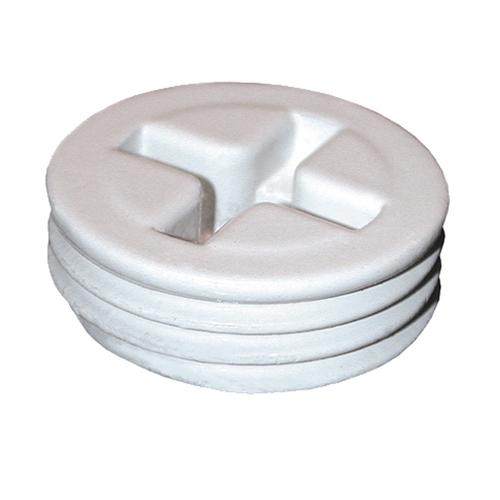 RAB R10W Close-Up Plug; 0.750 Inch, Die-Cast Aluminum, White