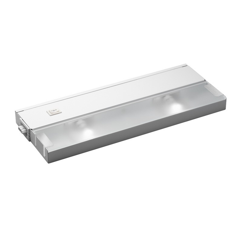 Kichler 12212WH Modular Line Voltage Xenon Collection 2-Light Xenon/Krypton Cabinet Strip/Bar Light; 20 Watt, 120 Volt, Bi-Pin, White, Steel, Frosted Glass Lens