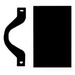 Mulberry 84121 1-Gang Blank Wallplate With Mounting Strap; (1) Blank, Strap Mount, Cold Rolled Steel, Painted, Semi-Gloss Ivory