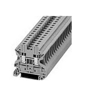 Eaton / Cutler Hammer XBUT4RD IEC-XB Series Feed-Through Terminal Block; 41 Amp IEC, 30 and 38 Amp EN, 30 Amp UL, 800 Volt IEC, 700 Volt EN, 600 Volt UL, Screw Terminal, 35 mm DIN Rail Mount, Polyamide 6.6, Red