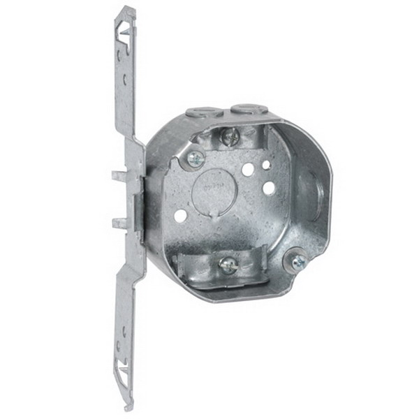 Hubbell Electrical / RACO 119 Octagon Box 1.563 Inch Length x 7 Inch Width x 3.625 Inch Height x 1.5 Inch Depth  11.8 Cubic-Inch  Steel  Silver