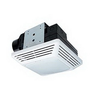 Air King BFQF70 Exhaust Fan With Light 27.5 Watt  0.5 Amp  70 cfm At 0.1 Static Pressure  56 cfm At 0.25 Static Pressure  Quiet Sones  Ceiling  Snap-In Bracket Mount  Polymeric Grille  White