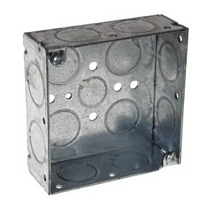Hubbell Electrical / RACO 181 Square Box 1-1/2 Inch Depth  Steel  21 Cubic-Inch  13 Knockouts