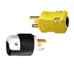 Hubbell Wiring HBL5364VBK Straight Blade Valise Plug 20 Amp  125 Volt AC  2-Pole  3-Wire  NEMA 5-20P  Cord Mount  Black
