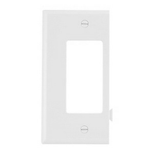 Cooper Wiring STC26W 1-Gang Decorator Wallplate 1 Decorator  Screw Mount  Polycarbonate  White