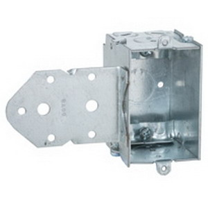 Hubbell Electrical / RACO 529 Switch Box; 2-1/2 Inch Depth, Steel, 12.5 Cubic-Inch, 3 Knockouts