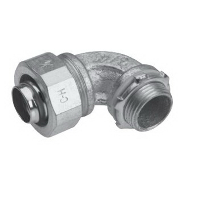 Midwest LT10090-SA Liquidator™ 90 Degree Liquidtight Conduit Connector; 1 Inch, Aluminum