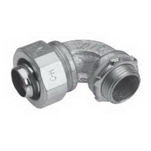 Midwest LT7590G-SA Liquidator™ 90 Degree Liquidtight Conduit Connector With Aluminum Grounding Lug; 3/4 Inch, Aluminum