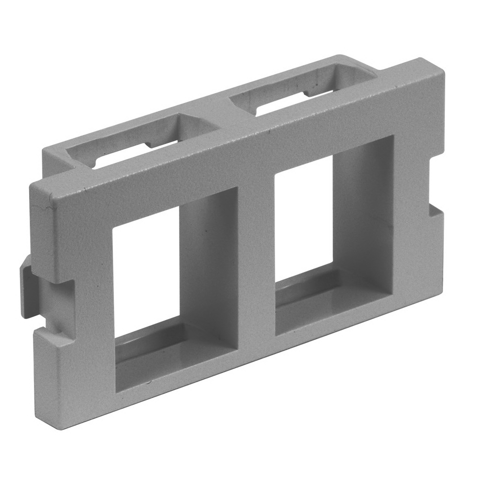 Hubbell Premise IM2K1GY Istation™ AV Unloaded Module; Flush Keystone Mount, ABS, Gray