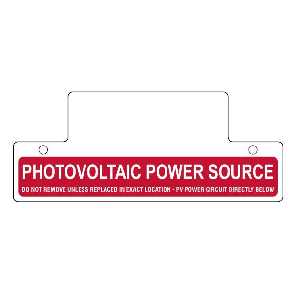 Hellermann Tyton 596-00257 Pre-Printed Solar Label 2.750 Inch Height x 6.750 Inch Width- Vinyl-