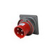 Pass & Seymour PS4100B7-W Pin and Sleeve Inlet; 100 Amp, 480 Volt AC, 3-Pole, 4-Wire, Black