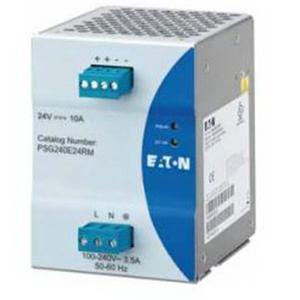 Eaton / Cutler Hammer PSG240E24RM PSG Series Power Supply; 10 Amp, 100 - 240 Volt AC, 24 Volt DC, 1-Phase, DIN Rail Mount