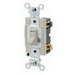 Leviton 54522-2I AC Quiet Switch; 20 Amp, 120/277 Volt AC, Grounding, Thermoplastic, Ivory