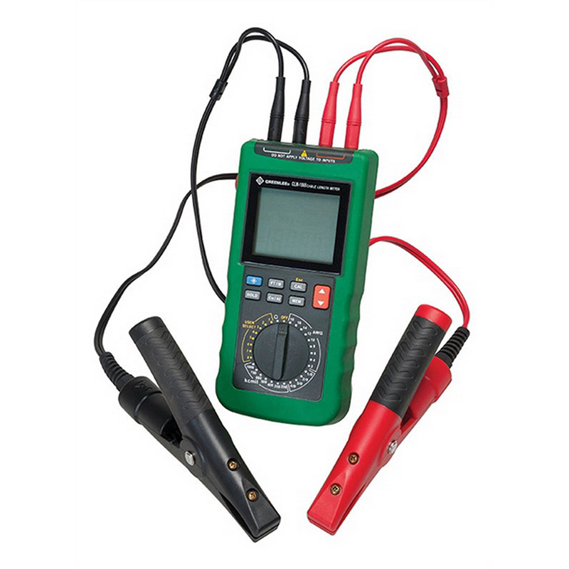 Greenlee CLM1000 Cable Length Meter; 750 Volt AC, 1000 Volt DC, 400 Amp, 40 mega-ohm, 4-1/2 Digit LCD